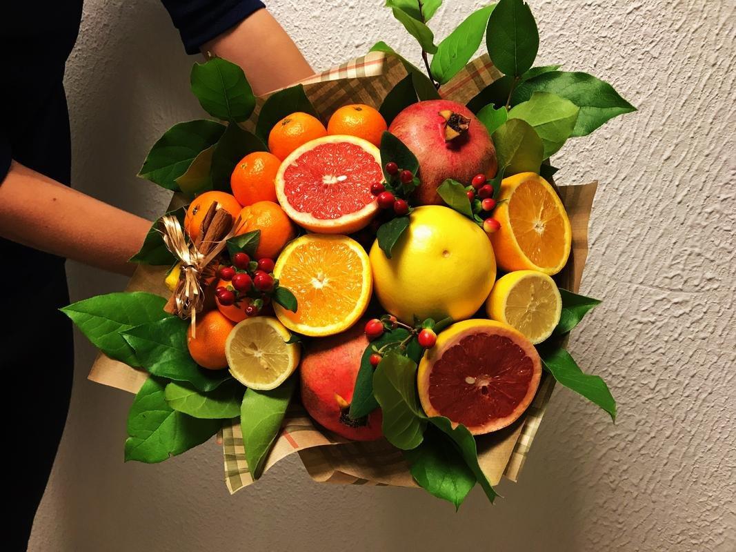 Букет из фруктов мастер класс с фото
