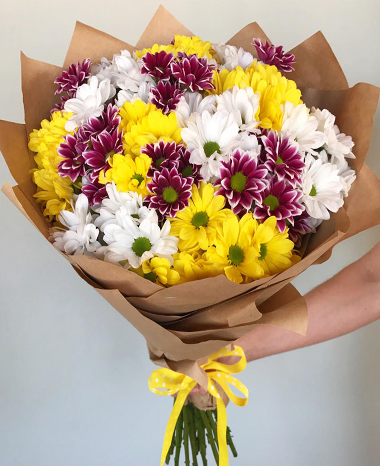 Большие букеты из хризантем фото красивые, купить минск доставка