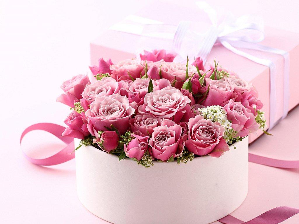 Букет цветов с пожеланиями на днюху