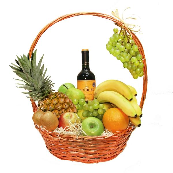 востребованность корзина с фруктами и вином в подарок своими руками фото делать