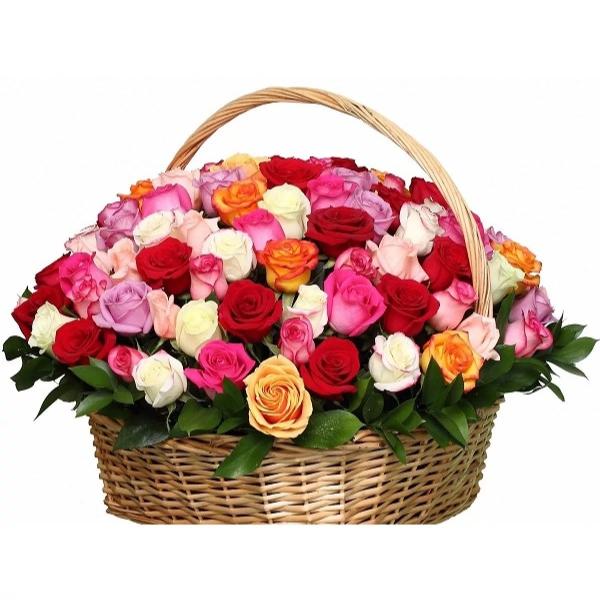 Картинки с днем рождения корзина цветов
